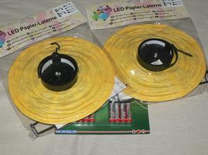 Lampiona so svetlom + baterky - 1,19eura - KIK
