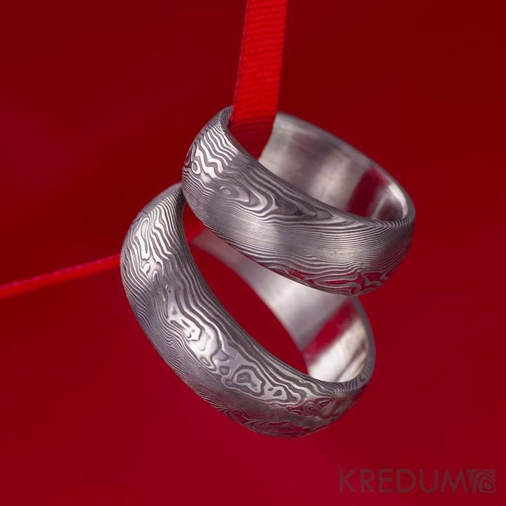 kredum - Snubní prsten kovaná nerezová ocel damasteel - PRIMA     www.adamvtriku.cz