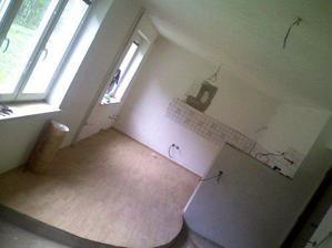 kuchyň už je připravená na montáž linky:-)