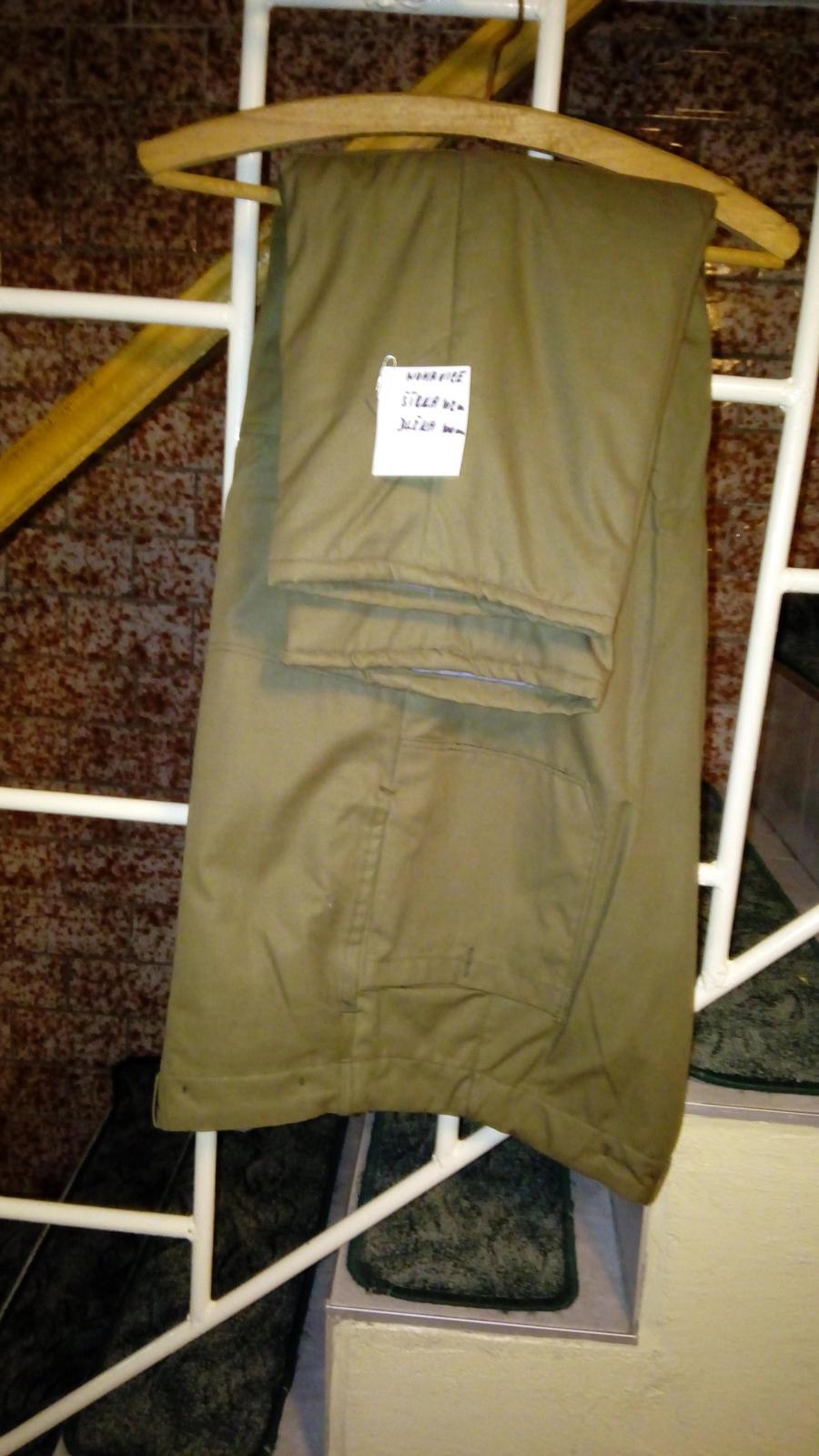 pracovne oblecenie nohavice presivane zateplene - Obrázok č. 1