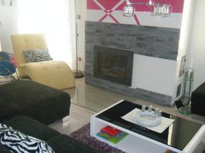 Ešte pohľad do obývacej časti - naše leháro leňoška
