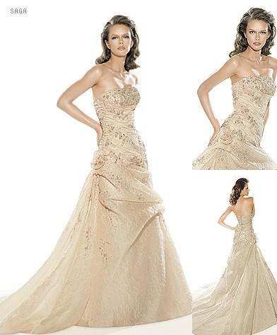 Lucia & Rasťo 9.8.2008 - Moje šaty na modelke (ja ich budem mať v bielom)