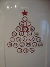 magnetkový adventní kalendář