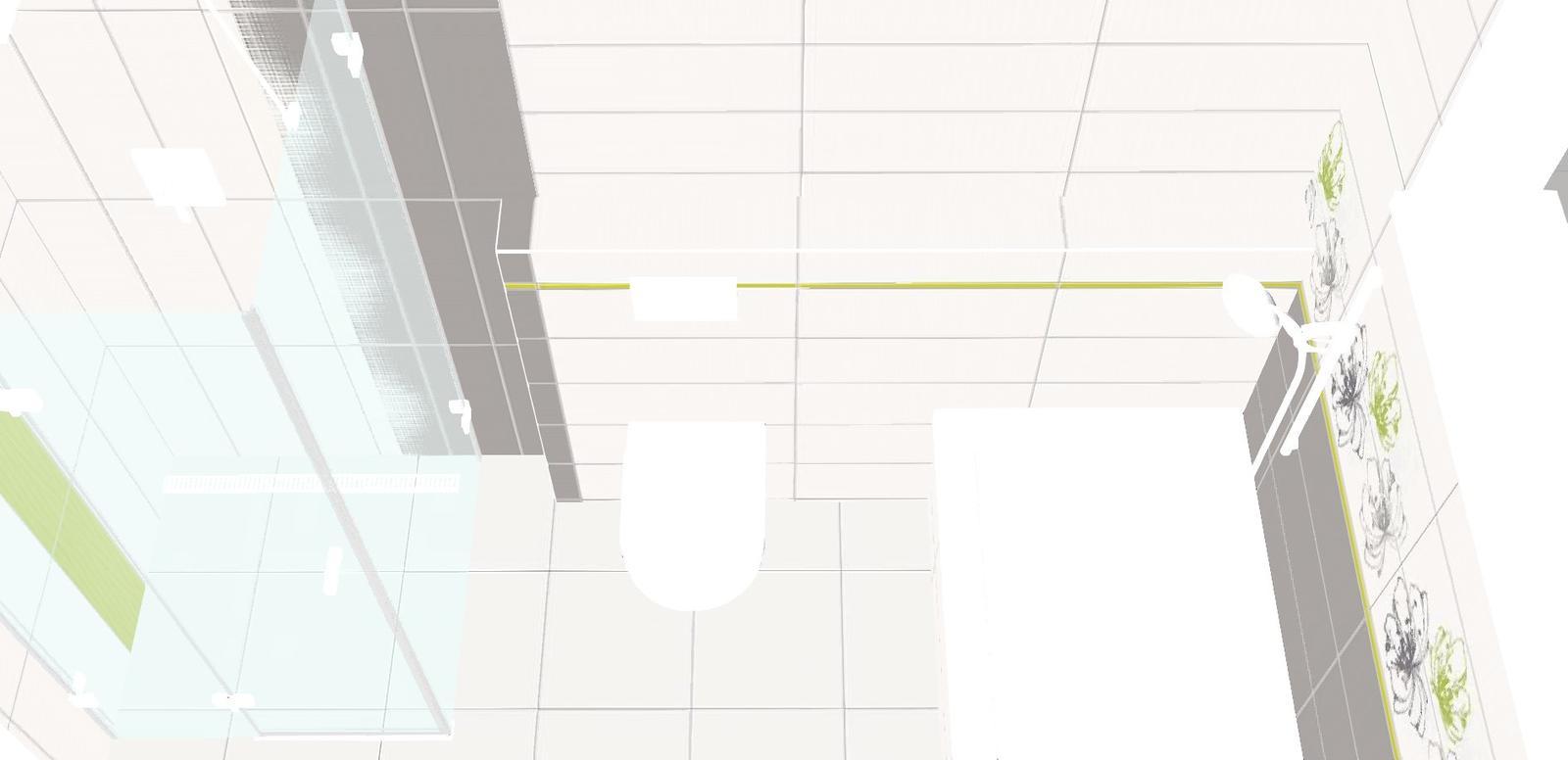 Inspiracie pre domcek - geberit asi potiahneme sivou a sprchovy kut bude asi pravy uhol cca. na 60 cm od hora dole zeleny