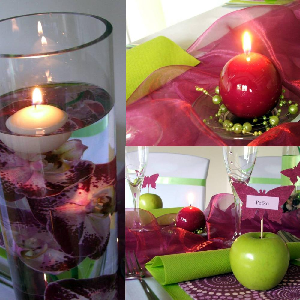 svadobne_studio_lorelai - Pestrá slivková s jabĺčkovo-zelenou