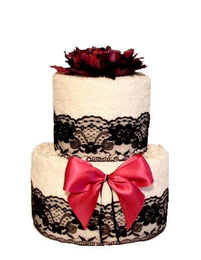 Alebo originálnu uterákovú tortu... - Obrázok č. 2