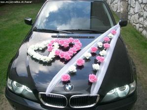 Nejako takto budeme mať vyzdobené svadobné autíčko...