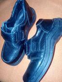 černé chlapecké boty na suchý zip , 33
