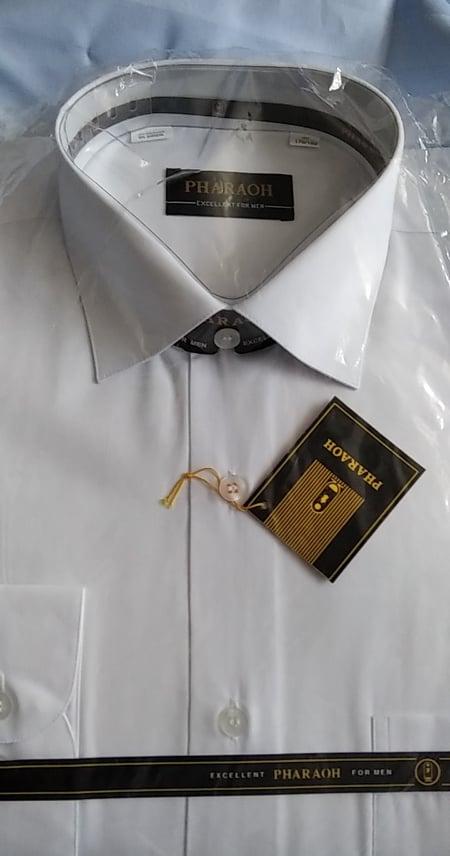 NOVÁ pánská bílá košile s dlouhým rukávem PHARAOH - Obrázek č. 1
