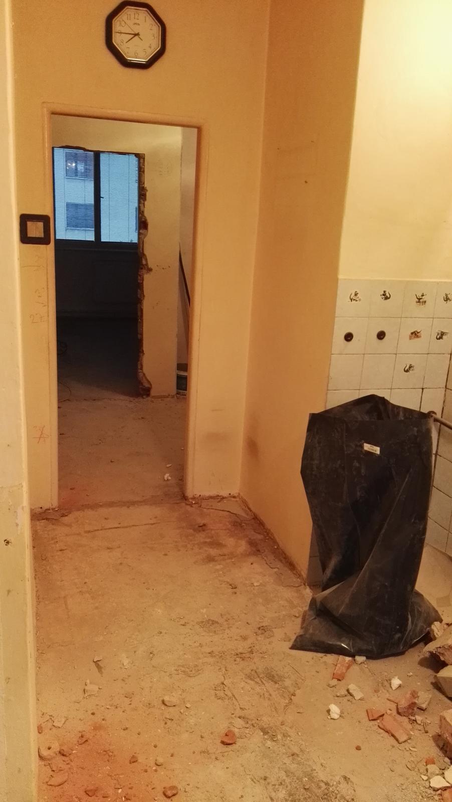 Projekt: Nové bývanie ... - ... a tieto dvere z kuchyne sa zamurujú ...