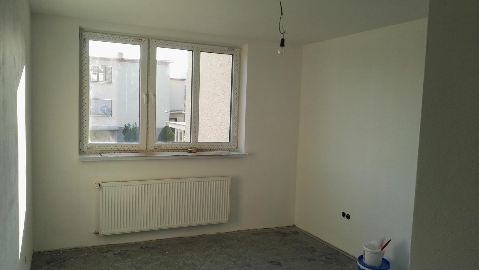 Projekt: Nové bývanie ... - ... izby vymaľované, chýba už len podlahu položiť...