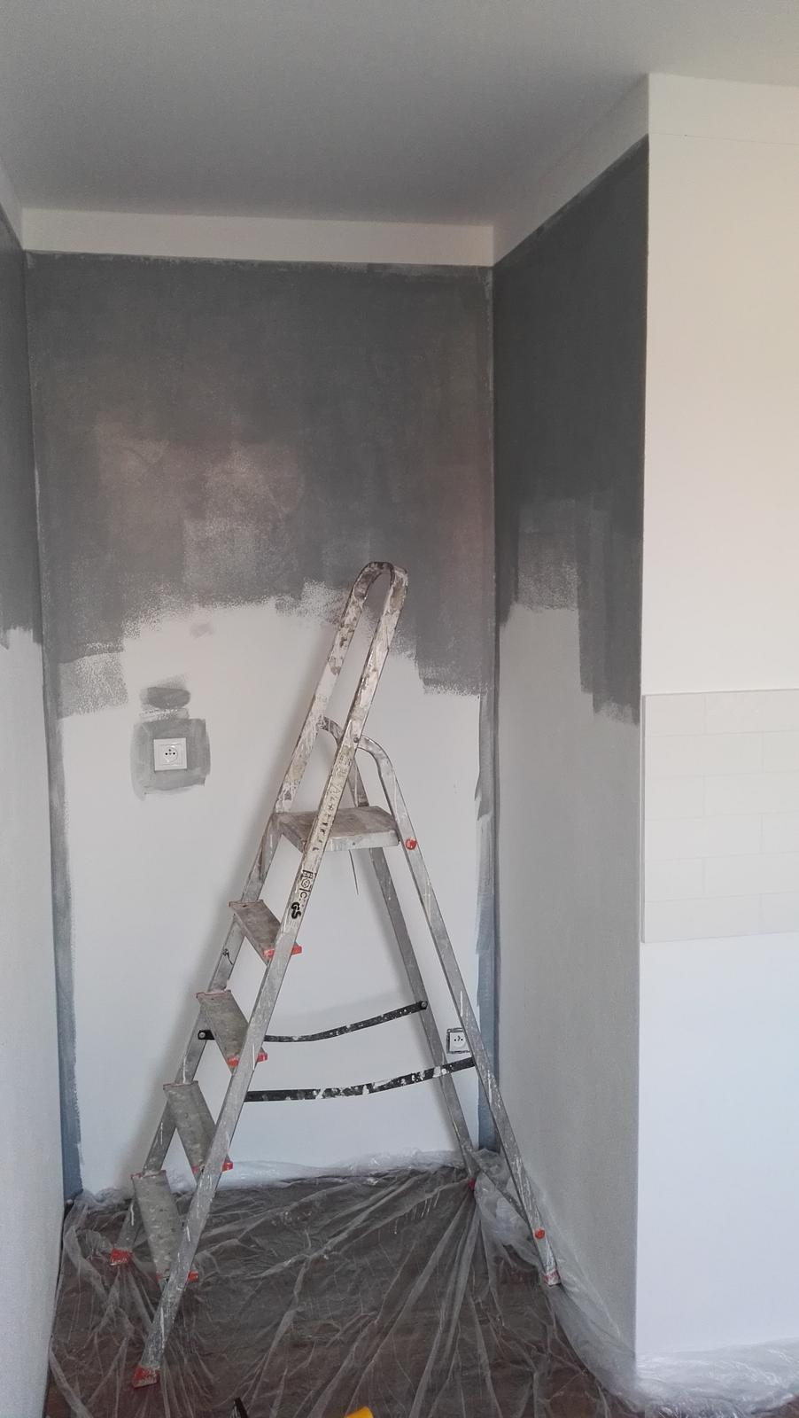 Projekt: Nové bývanie ... - ... ja maľujem kuchyňu ...