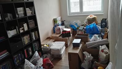 ... tretí deň presťahovaní a toto je aktuálny stav u nás :-o... dcérina / hosťovská izba