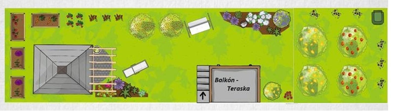 """Naše malé """"pole neorané"""" :o) záhradka 2. rok - malá mena v """"plánoch"""", menili sme kúsok záhradky so susedmi, aby už nemuseli prechádzať cez našu časť..."""