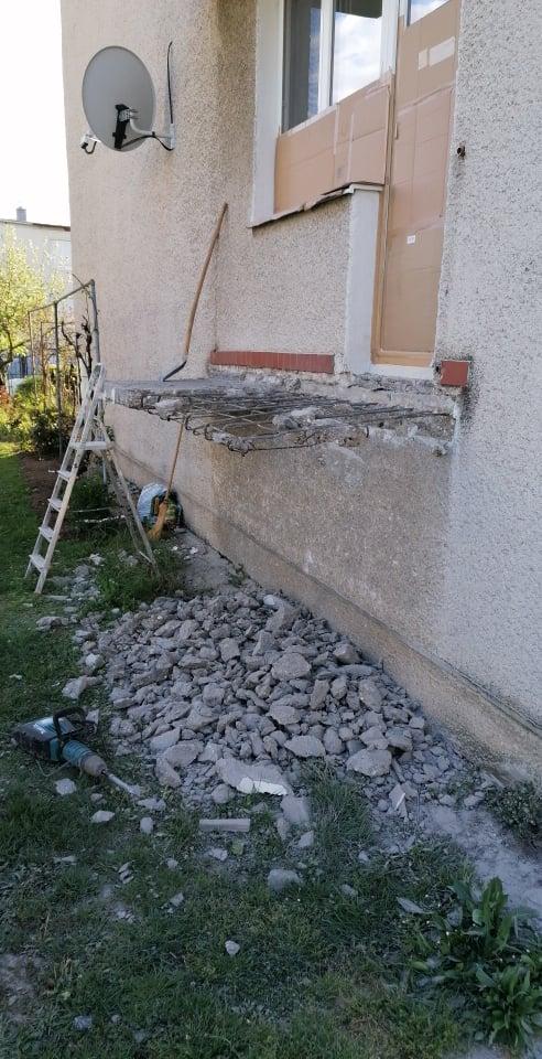 Premena balkóna na terasku - Začíname :-) ...