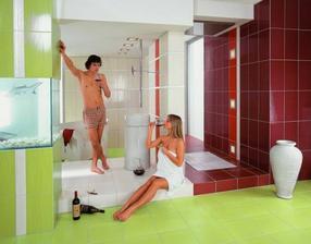 tyto barvičky v koupelně se nám zatím líbí