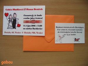 naše vlastoručně dělané oznámení a pozvánky ke stolu