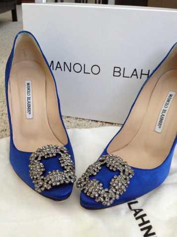 eb54c4a7a0a5 Štrasové klipy na topánky v štýle Manolo Blahnik -...