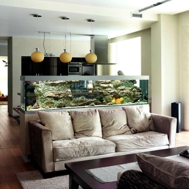 Ak nevieš, čo s priestorom, daj doň akvárium - Obrázok č. 16