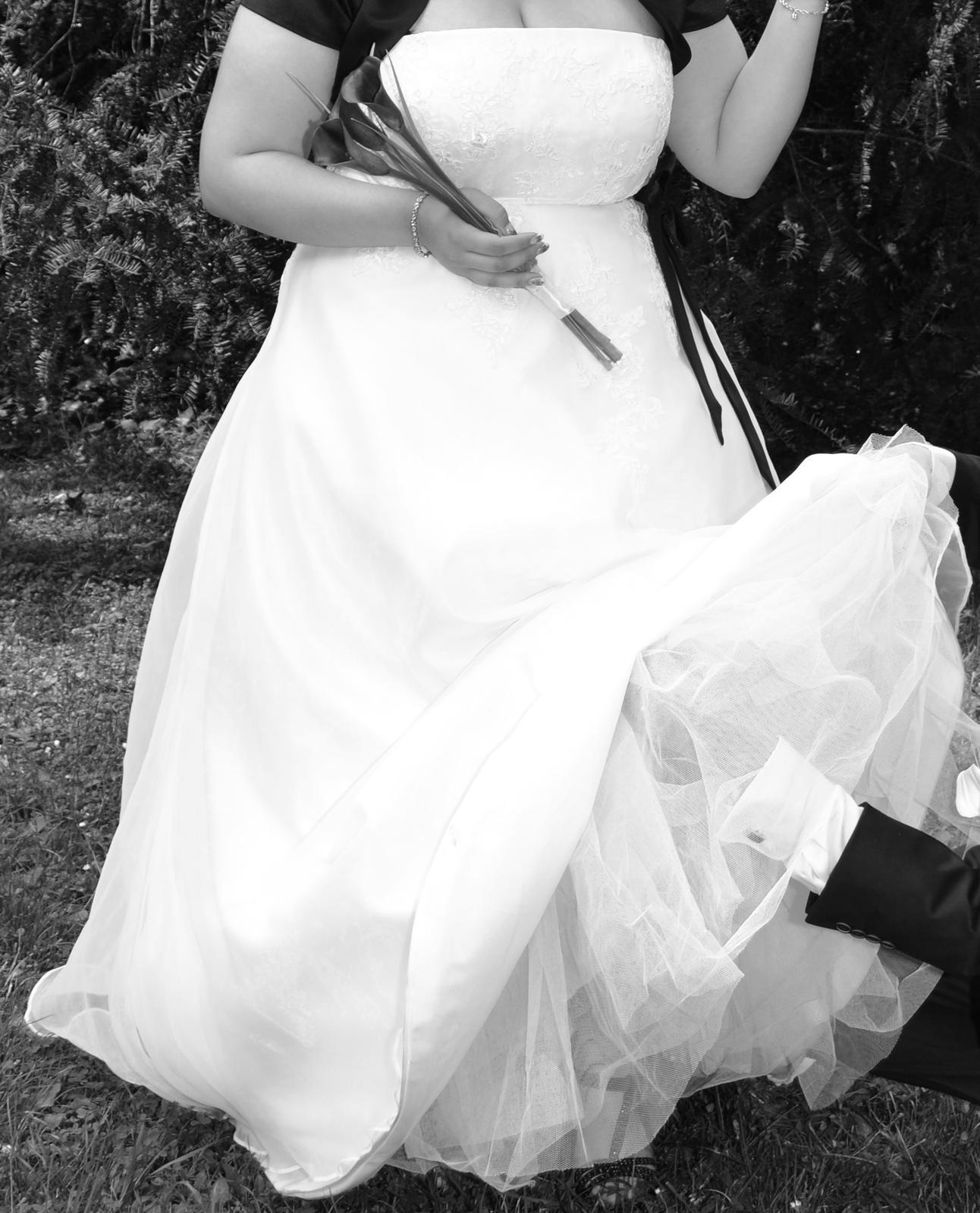 Svatební šaty šité na míru vel. 44-46 - Obrázek č. 1