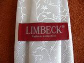 Bílá zdobená svatební kravata,