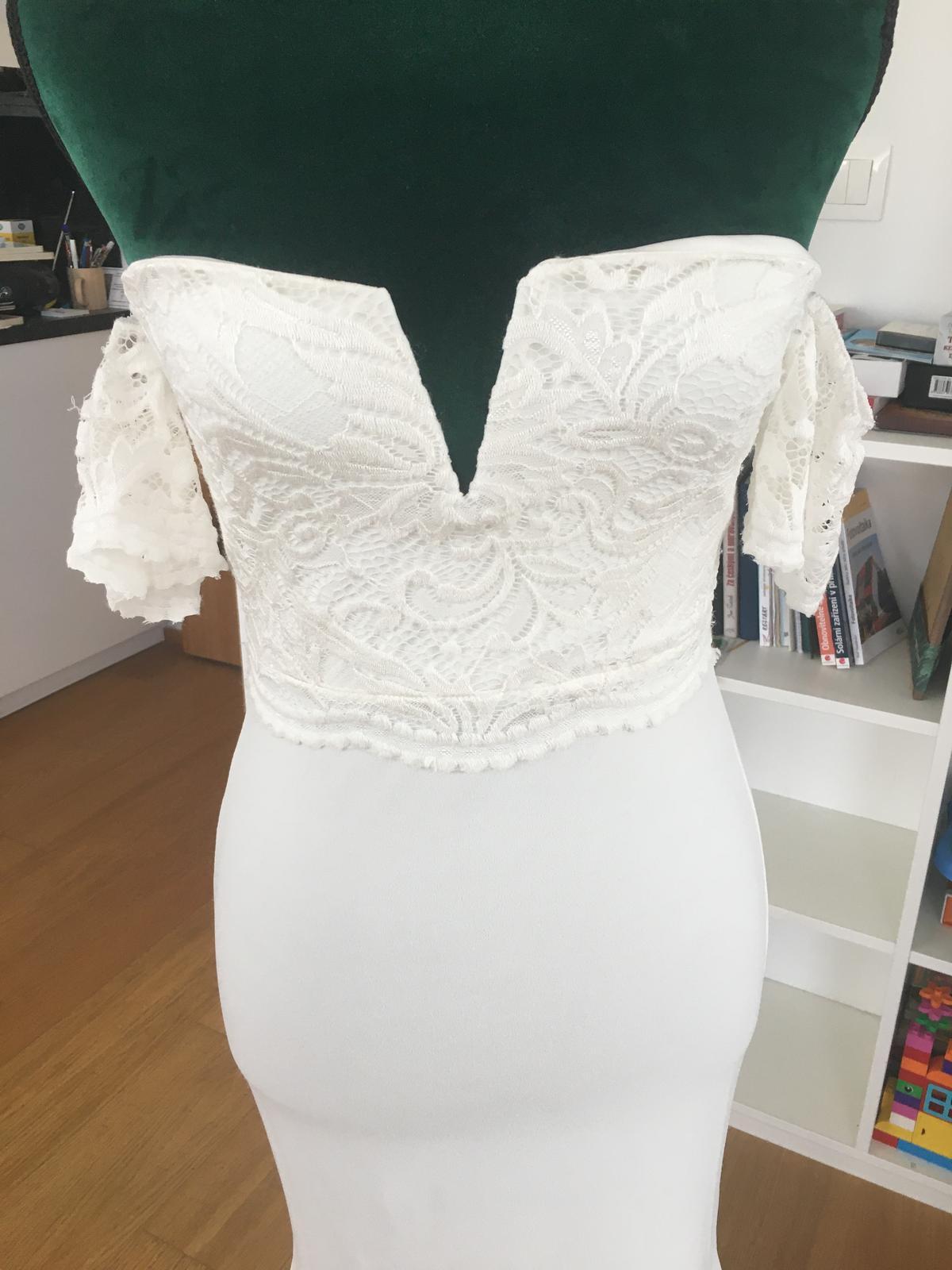 Nové svatební šaty s krajkou - Obrázek č. 1