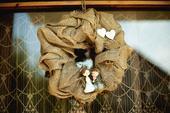 Svadobný veniec na dvere - jutový,