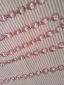 Krystalová girlanda světle růžová - 3 ks,