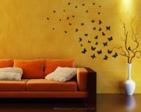 Aj motýle môžu byť v obývačke....