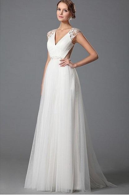 Svadobné šaty s krajkovým chrbtom  - Obrázok č. 2