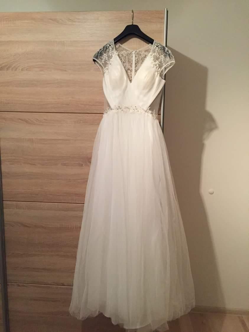 Svadobné šaty s krajkovým chrbtom  - Obrázok č. 3
