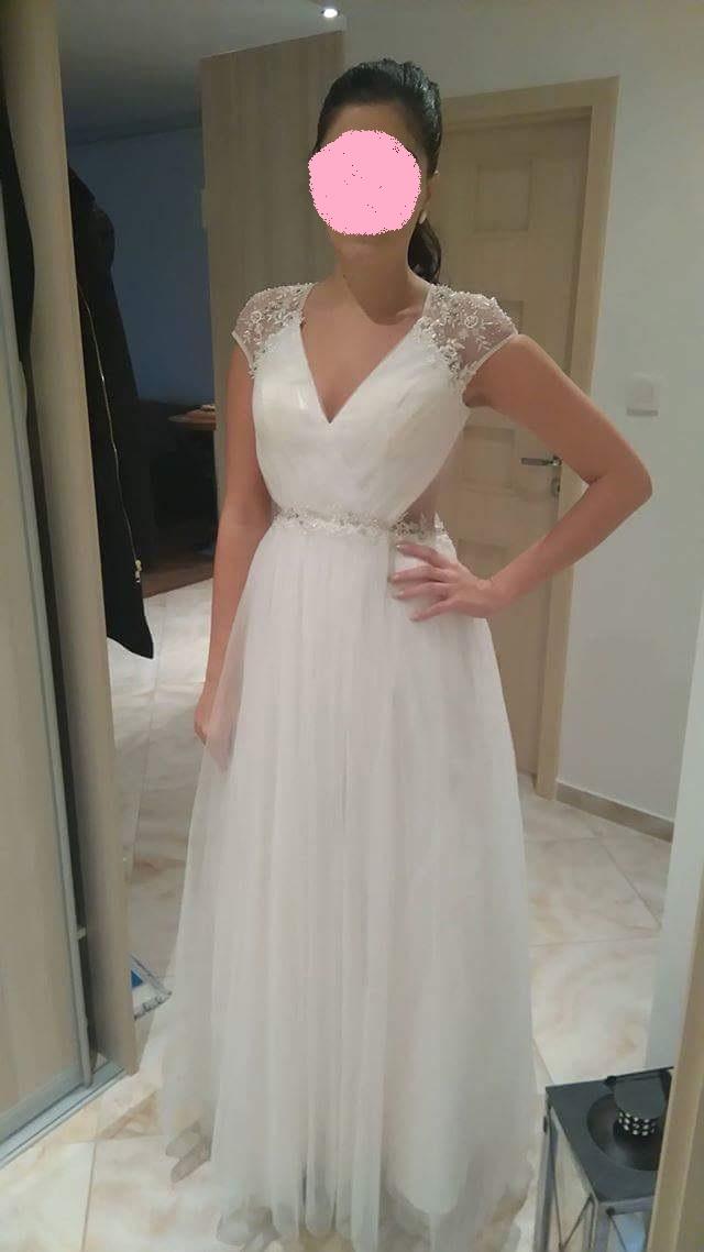 Svadobné šaty s krajkovým chrbtom  - Obrázok č. 4