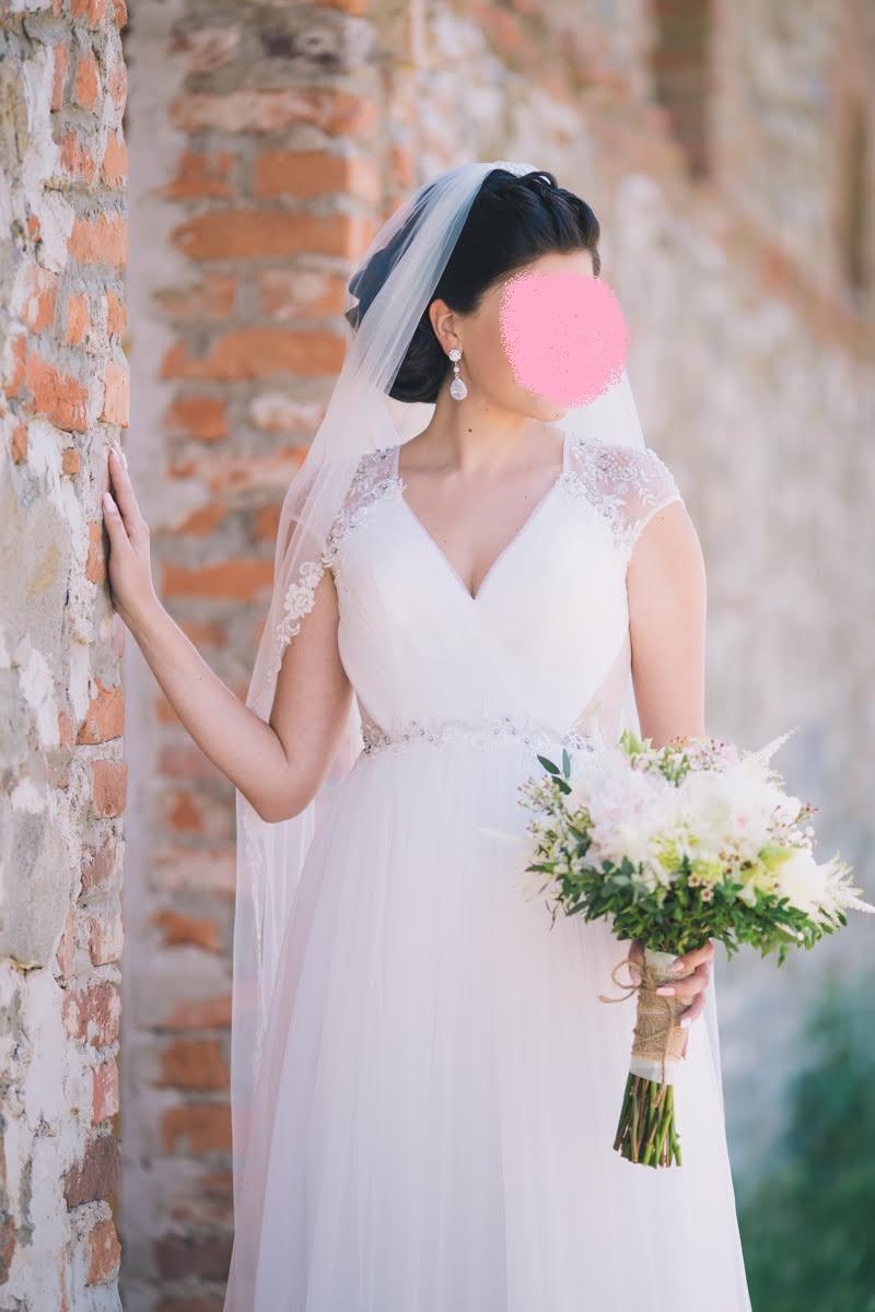 Svadobné šaty s krajkovým chrbtom  - Obrázok č. 1