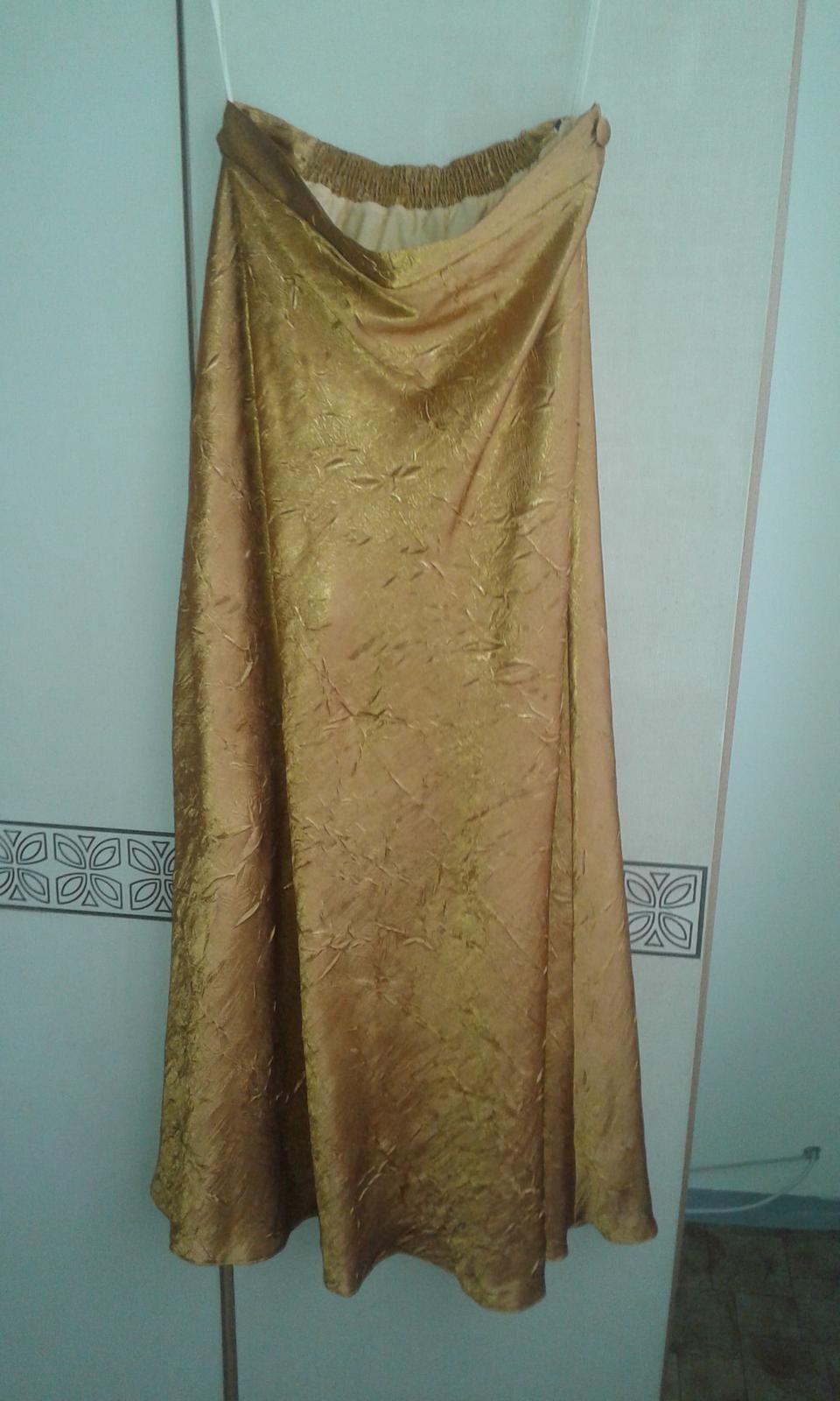 Zlaté príležitostné šaty č.XL - Obrázok č. 3
