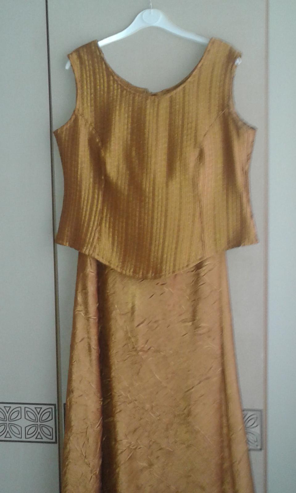 Zlaté príležitostné šaty č.XL - Obrázok č. 1