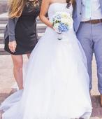 Svatební šaty s vlečkou 36, 38