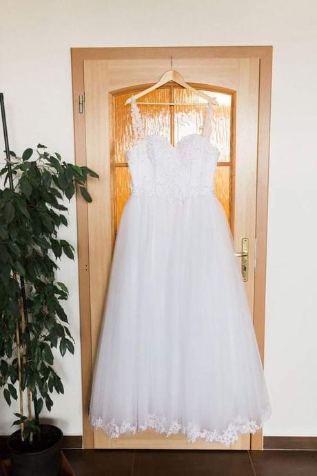 Svadobné šaty veľkosť M - Obrázok č. 1