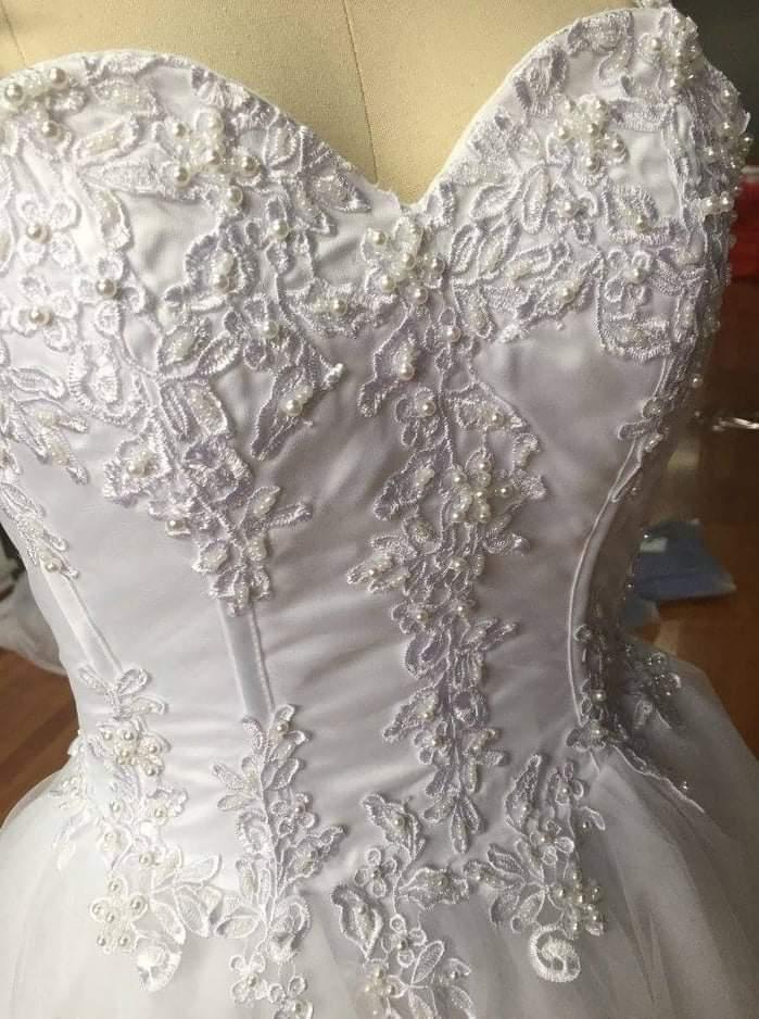 Svadobné šaty veľkosť M - Obrázok č. 2