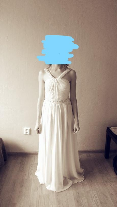 Jednoduché svadobné šaty ivory - Obrázok č. 1