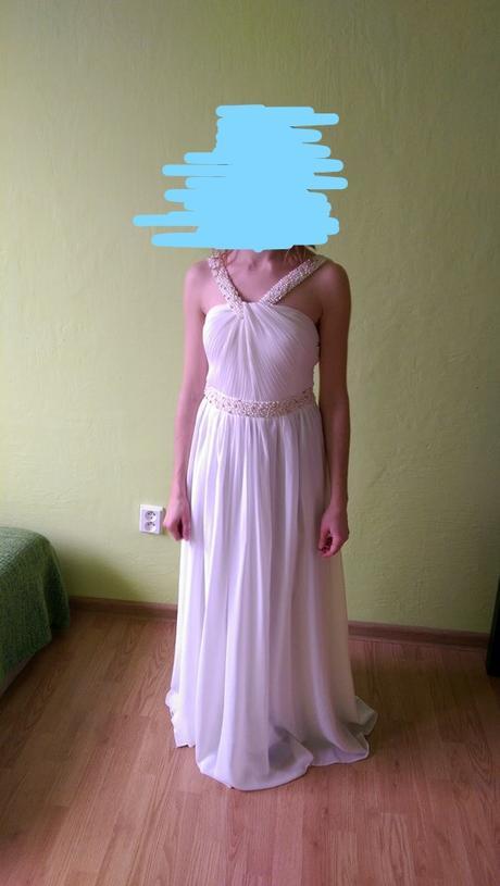 Jednoduché svadobné šaty ivory - Obrázok č. 2