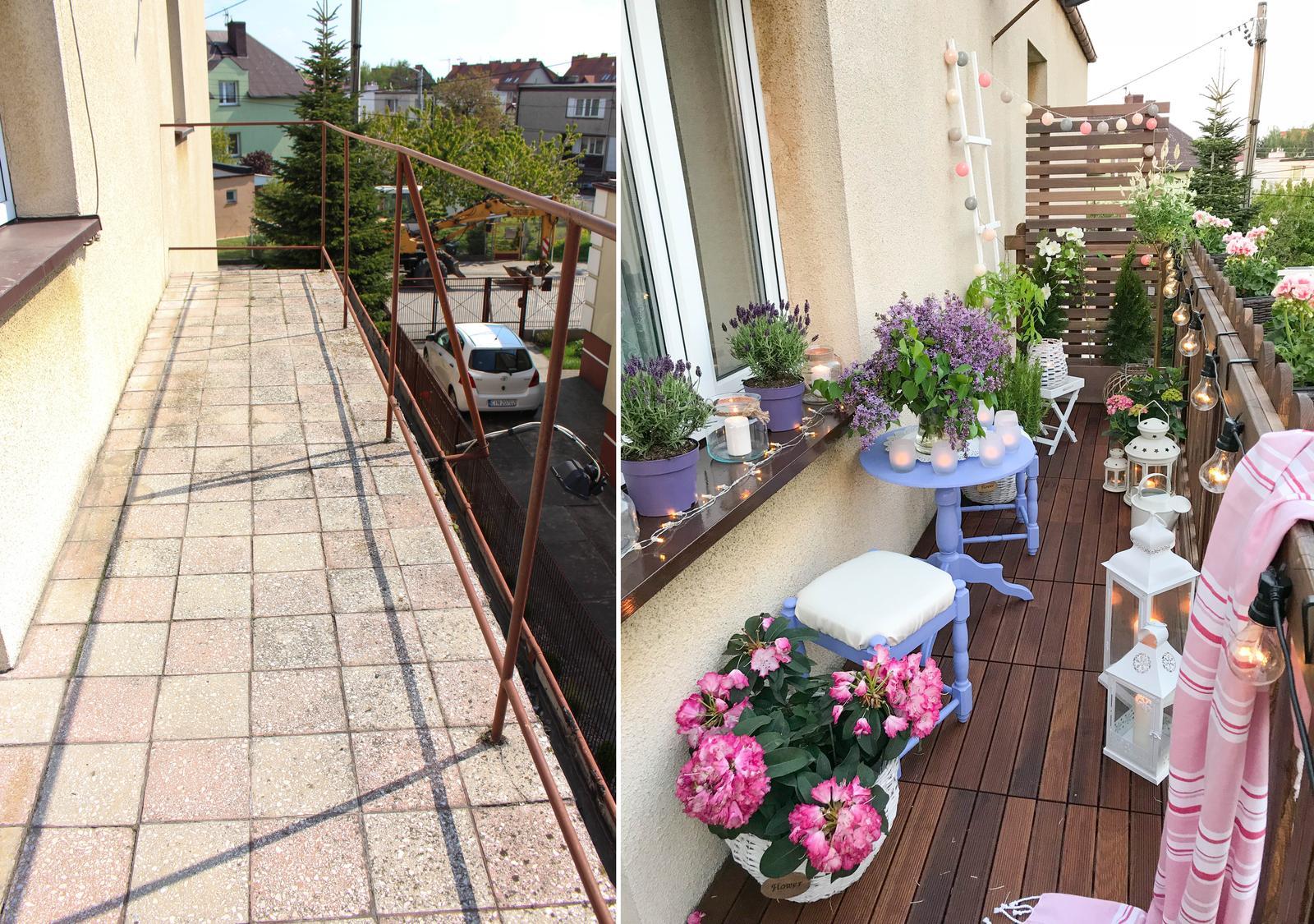 Metamorfoza balkona drevenou terasou - Obrázok č. 1