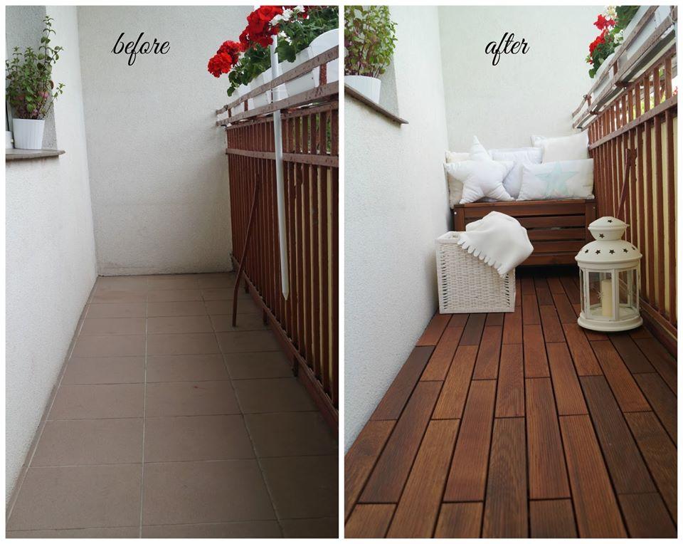Metamorfoza balkona drevenou terasou - Obrázok č. 2