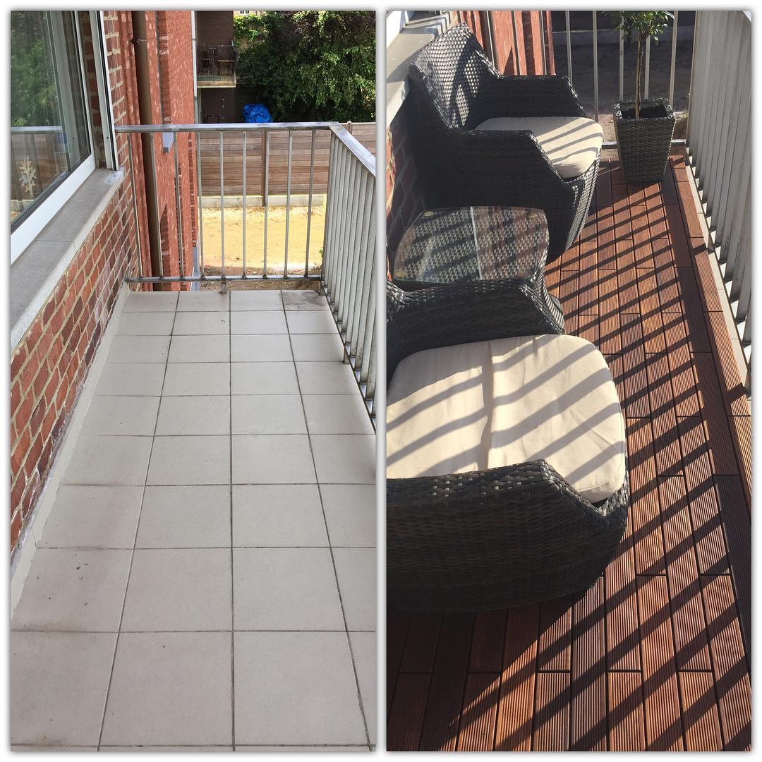 Metamorfoza balkona drevenou terasou - Obrázok č. 3