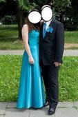 modré šaty , L