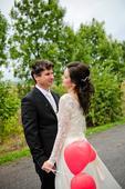 jednoduché jemné svadobné šaty krajka - šifón , 38