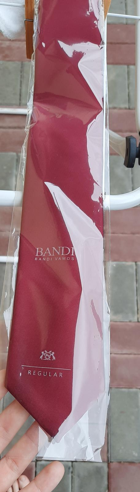kravata bandi bordo - Obrázek č. 1