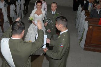 požehnání od vojenského kaplana