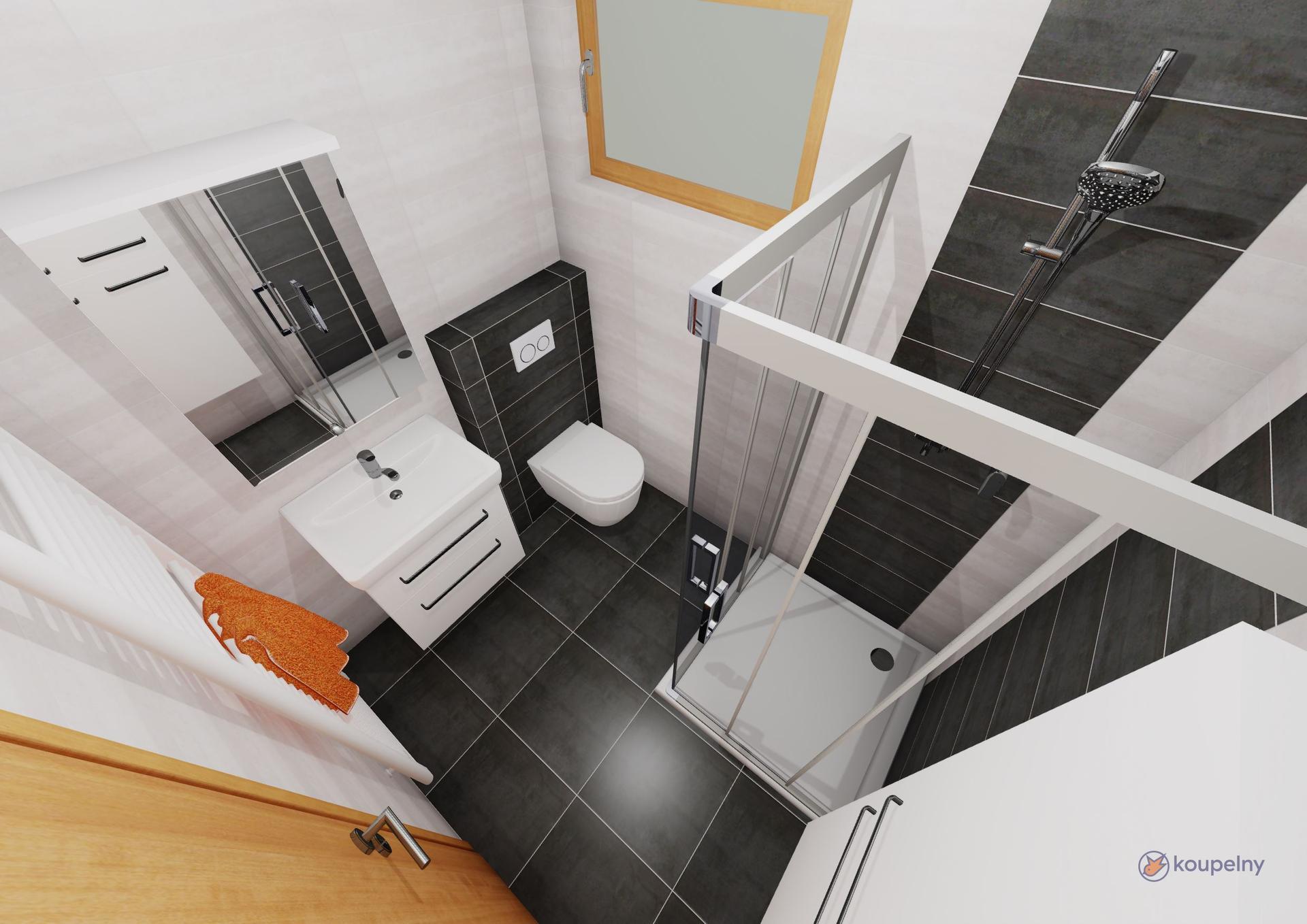 Koupelna 1.patro- plány x realita - Obrázek č. 3