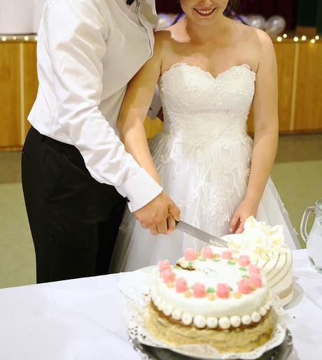 Kvetované svadobné šaty (36-40) Hadassa - Obrázok č. 1