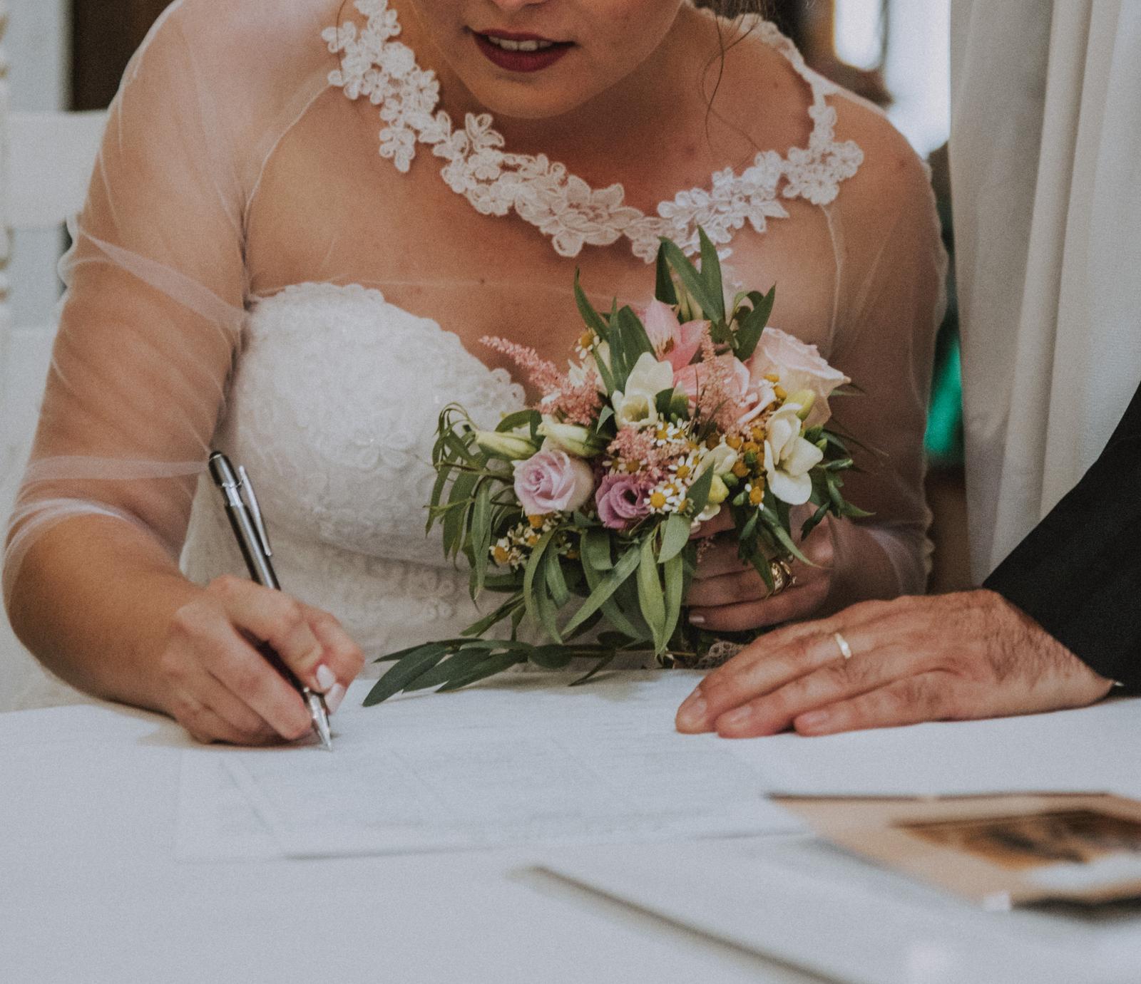 Kvetované svadobné šaty (36-40) Hadassa - Obrázok č. 4